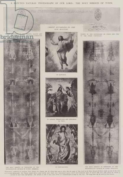 A Reputed Natural Photograph of Our Lord, the Holy Shroud of Turin (b/w photo)