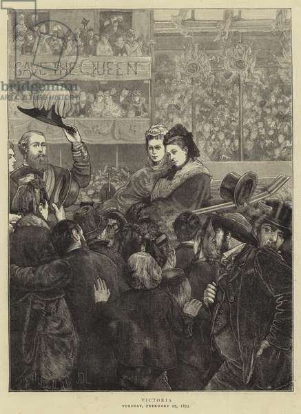 Queen Victoria on her Way to St Paul's (engraving)