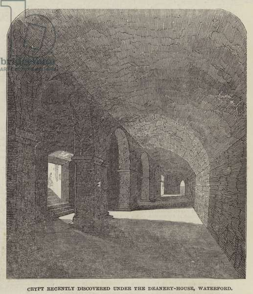 Crypt recently discovered under the Deanery-House, Waterford (engraving)