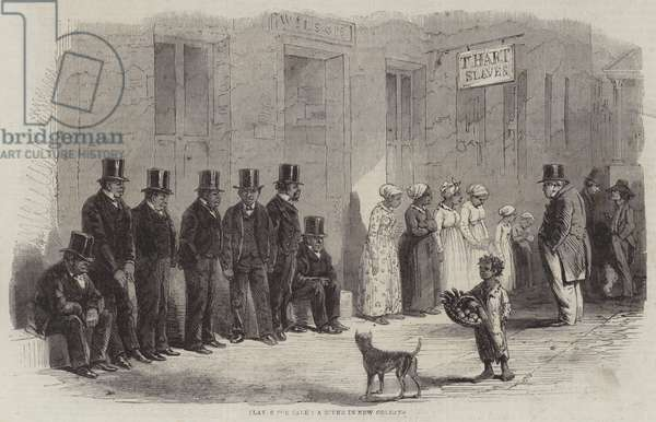 Slaves for Sale, a Scene in New Orleans (engraving)