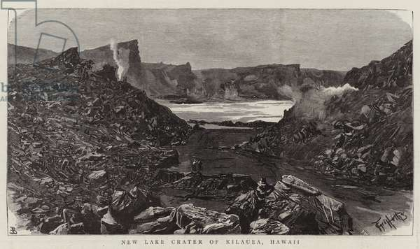 New Lake Crater of Kilauea, Hawaii (engraving)