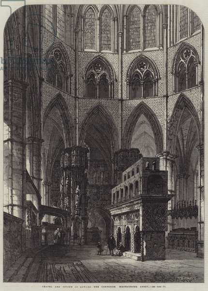 Chapel and Shrine of Edward the Confessor, Westminster Abbey (engraving)