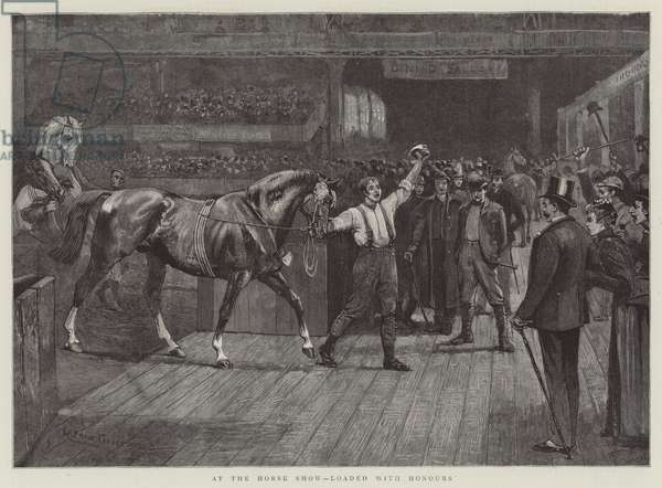 At the Horse Show, loaded with Honours (engraving)