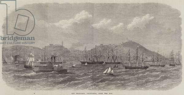 San Francisco, California, from the Bay (engraving)
