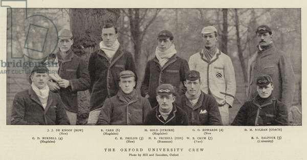The Oxford University Crew (b/w photo)