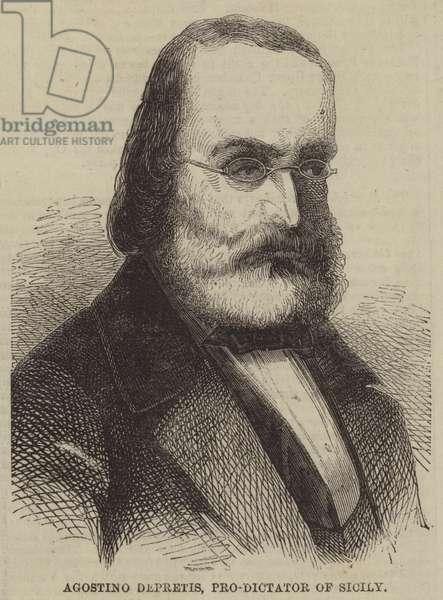 Agostino Depretis, Pro-Dictator of Sicily (engraving)