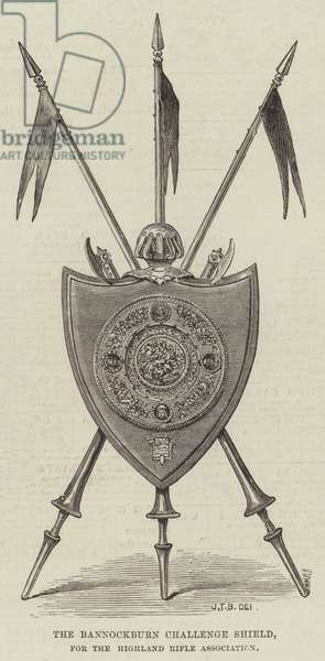 The Bannockburn Challenge Shield, for the Highland Rifle Association (engraving)