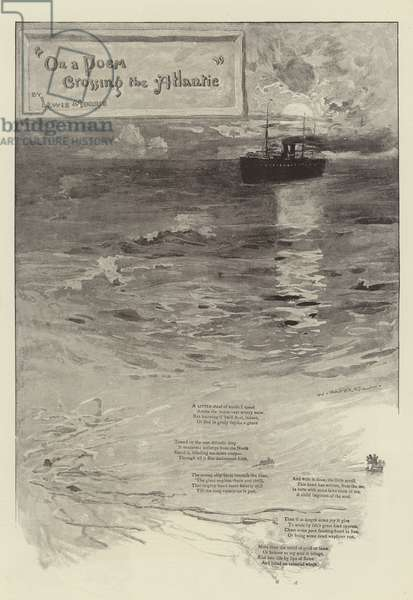 """""""On a Poem Crossing the Atlantic"""", by Lewis Morris (litho)"""