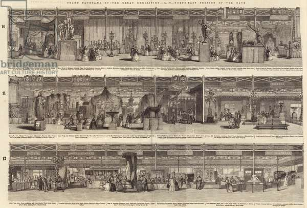 Grand Panorama of the Great Exhibition, North-East Portion of the Nave (engraving)