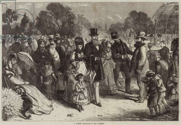 A Summer Afternoon in Kew Gardens (engraving)