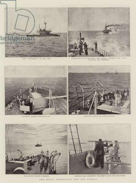 The Naval Manoeuvres and the Camera (b/w photo)
