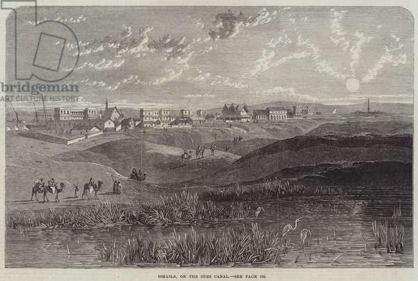 Ismaila, on the Suez Canal (engraving)