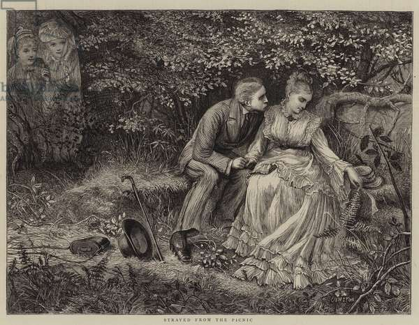 Strayed from the Picnic (engraving)