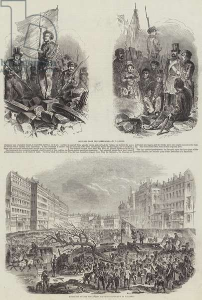 French Revolution of 1848 (engraving)