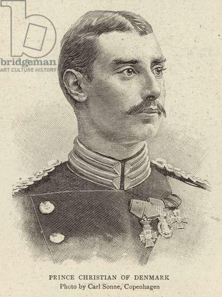 Prince Christian of Denmark (engraving)