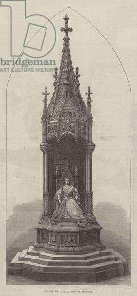 Statue of the Queen at Bombay (engraving)