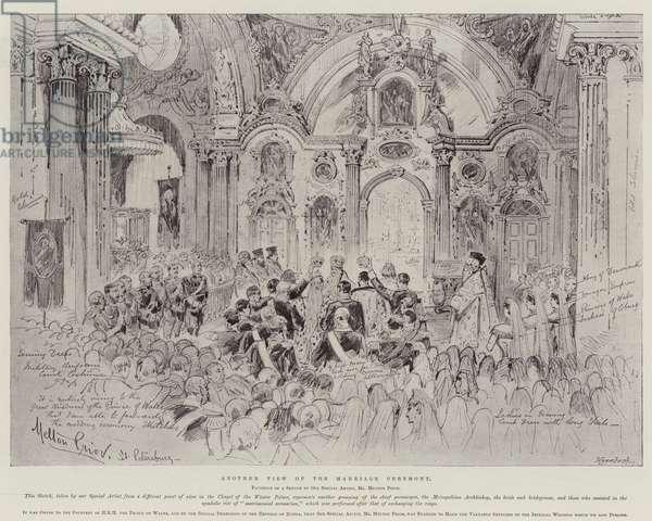 The Wedding of Nicholas II, Czar of Russia (litho)