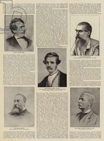 British Travellers and Explorers (litho)