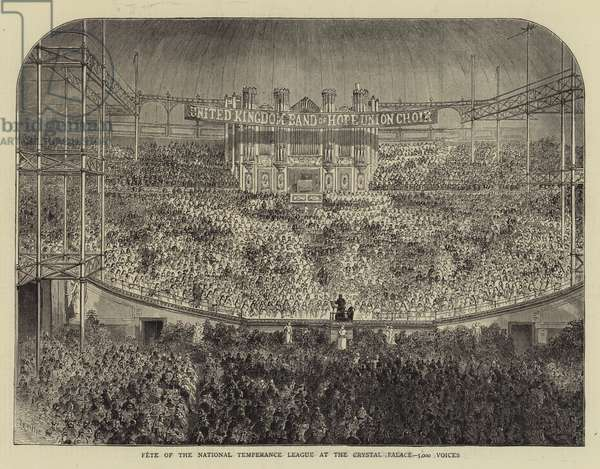 Fete of the National Temperance League at the Crystal Palace, 5000 Voices (engraving)