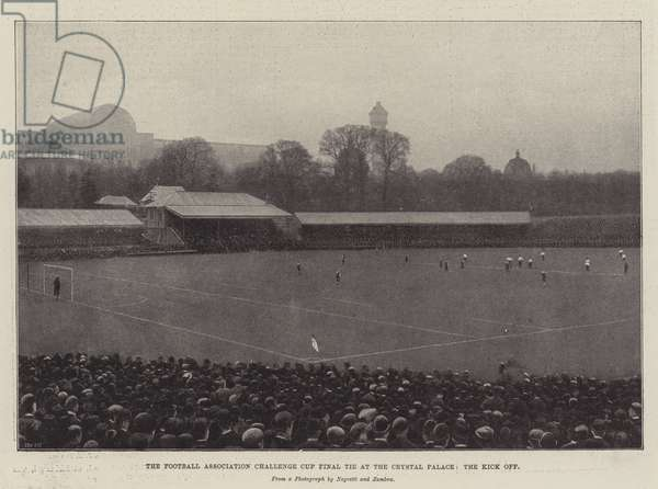 The Football Association Challenge Cup Final Tie at the Crystal Palace, the Kick Off (engraving)