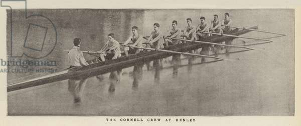 The Cornell Crew at Henley (b/w photo)