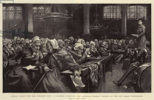 Sunday Music for the Indigent Poor, a Concert given by the National Sunday League at the City Road Workhouse (litho)