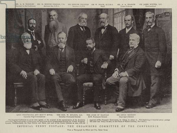 Imperial Penny Postage, the Organising Committee of the Conference (b/w photo)