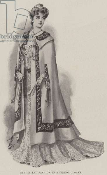 The Latest Fashion in Evening Cloaks (litho)