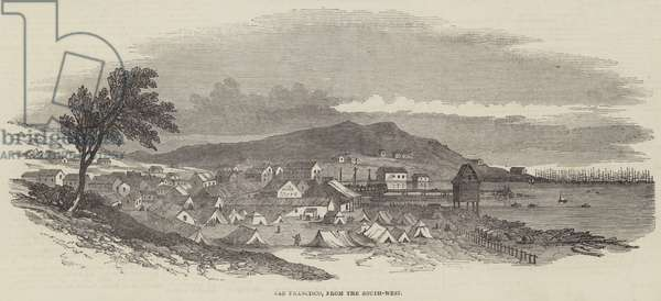 San Francisco, from the South-West (engraving)