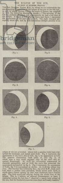 The Eclipse of the Sun, as seen at Hyeres, France (engraving)
