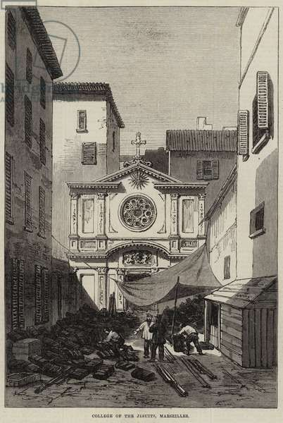 College of the Jesuits, Marseilles (engraving)
