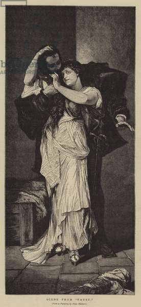 """Scene from """"Faust"""" (engraving)"""