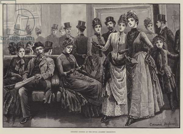 Country Cousins at the Royal Academy Exhibition (engraving)