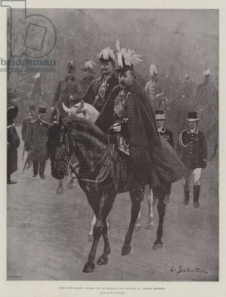 King and Kaiser, Edward VII of England and William II, German Emperor (litho)