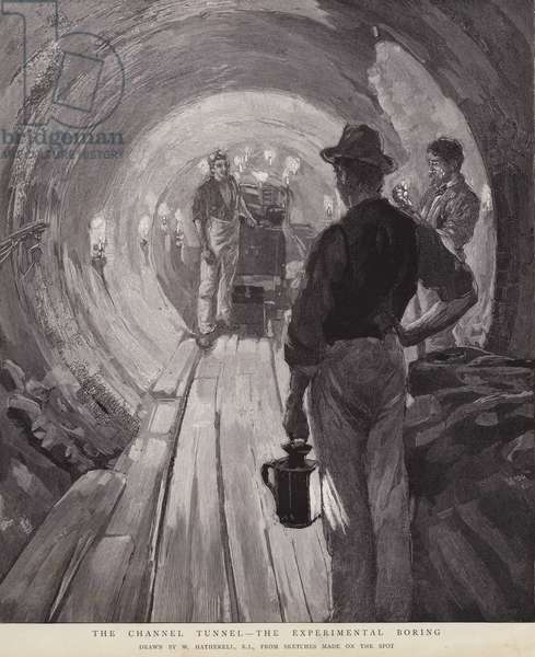 The Channel Tunnel - The Experimental Boring (litho)