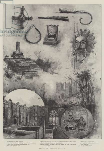 Relics of Ancient Durham (litho)