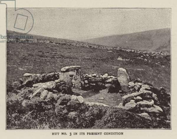 A Prehistoric Village (b/w photo)