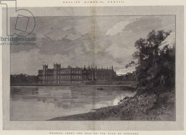 English Homes, Welbeck Abbey, the Seat of the Duke of Portland (engraving)