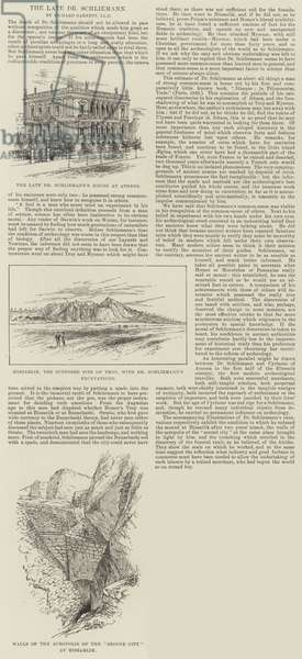 The late Dr Schliemann (engraving)