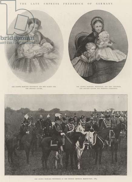 The late Empress Frederick of Germany (litho)