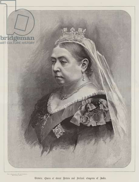 Victoria, Queen of Great Britain and Ireland, Empress of India (engraving)