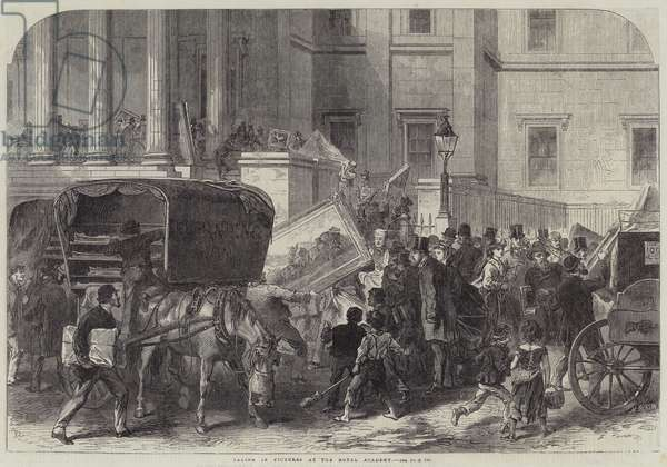 Taking in Pictures at the Royal Academy (engraving)