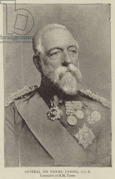 General Sir Daniel Lysons, GCB (b/w photo)