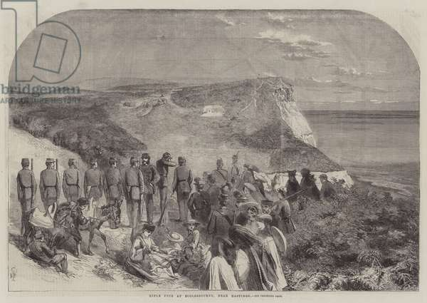 Rifle Fete at Ecclesbourne, near Hastings (engraving)