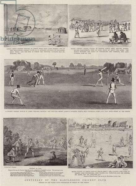 Centenary of the Marylebone Cricket Club (engraving)