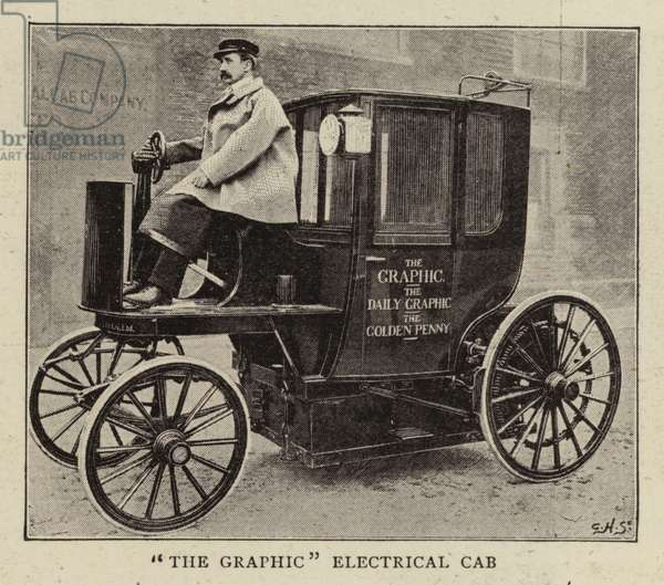 """""""The Graphic"""" Electrical Cab (b/w photo)"""