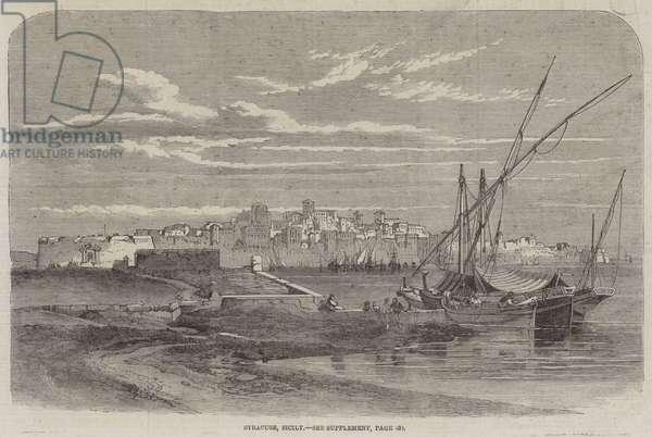 Syracuse, Sicily (engraving)