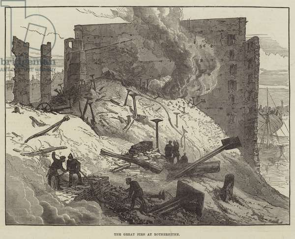 The Great Fire at Rotherhithe (engraving)
