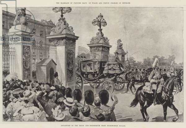 The Marriage of Princess Maud of Wales and Prince Charles of Denmark (engraving)