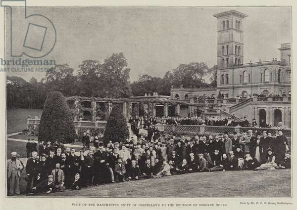 Visit of the Manchester Unity of Oddfellows to the Grounds of Osborne House (b/w photo)